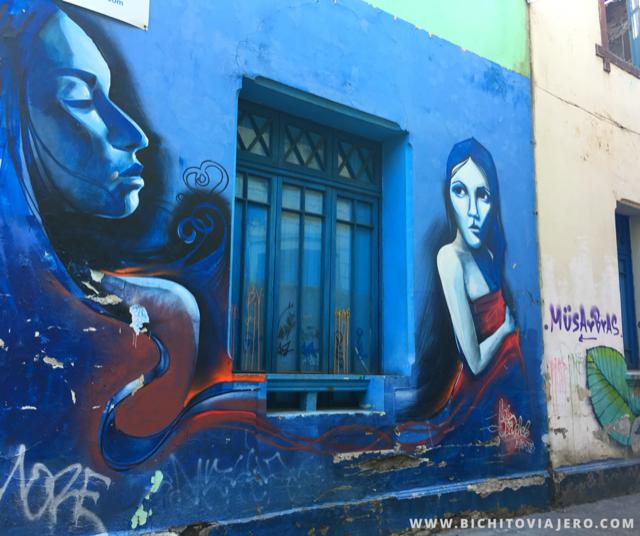 Arte callejero en el Barrio Yungay