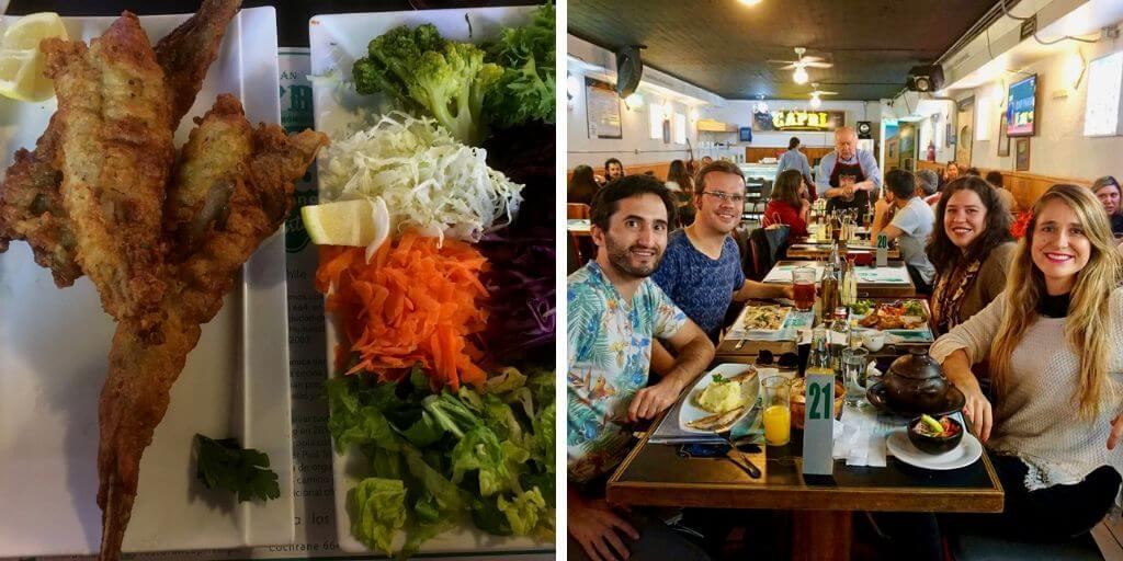 Almuerzo en Restorán Capri en Valparaíso - Bichito Viajero